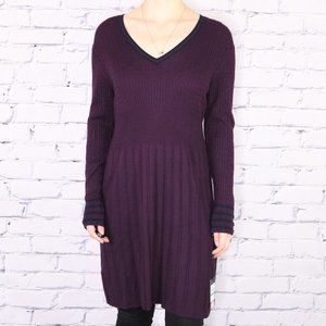 NWT Tommy Hilfiger plum knit sweater dress